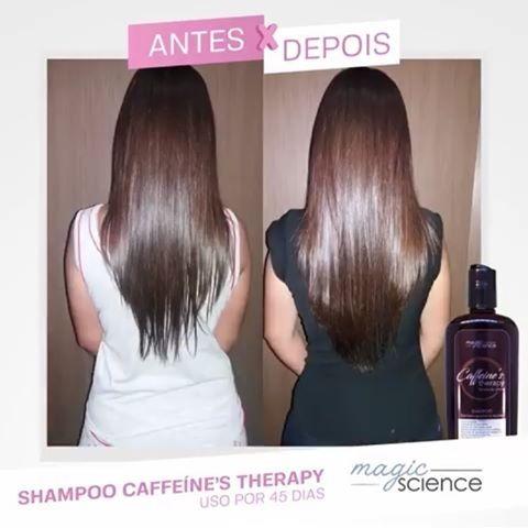 shampoo caffeine therapy antes e depois 3